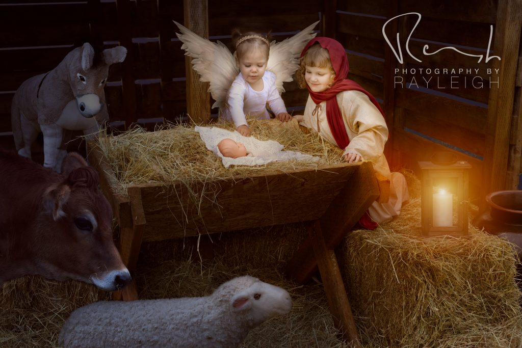 Christmas Nativity Experience photo shoot in Portland. More info at byrayleigh.com